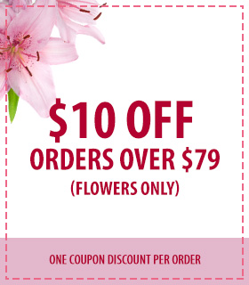 $10 off flower orders over $79